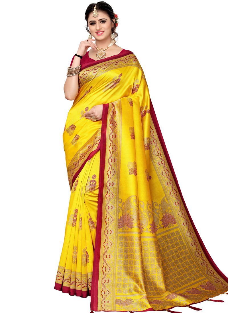 Yellow Casual Traditional Saree
