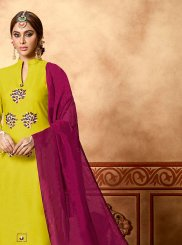 Yellow Ceremonial Churidar Suit