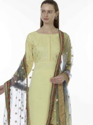 Yellow Ceremonial Designer Salwar Kameez