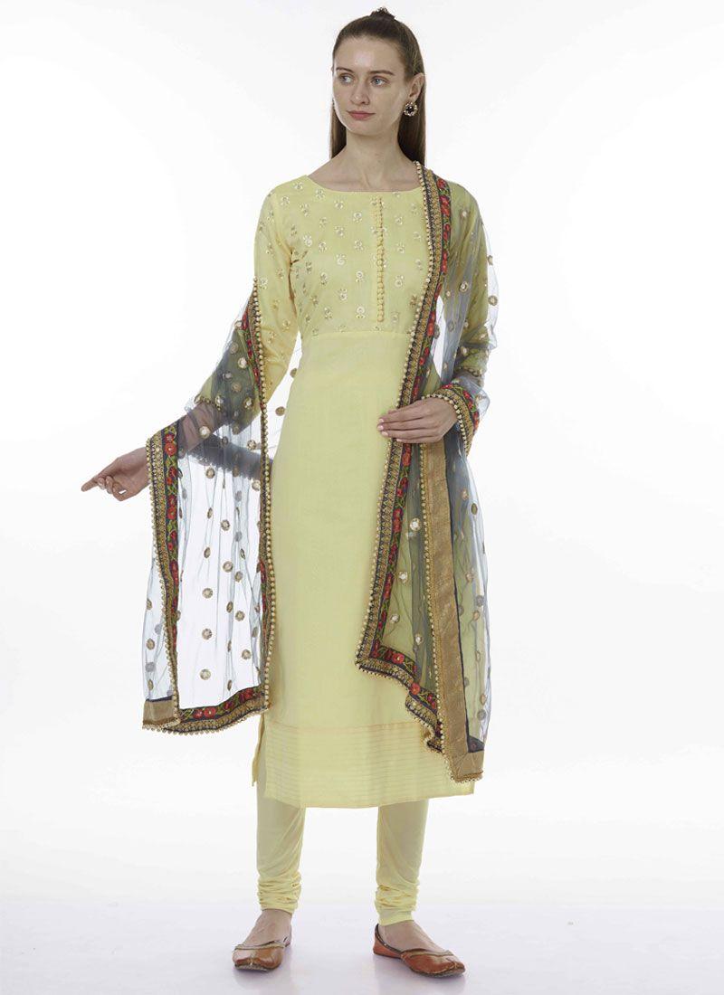 Yellow Ceremonial Designer Salwar Kameez