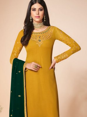 Yellow Ceremonial Salwar Suit