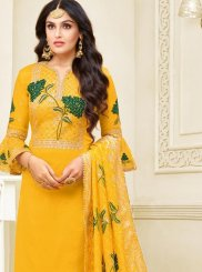 Yellow Churidar Designer Suit