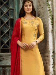Yellow Color Churidar Salwar Suit