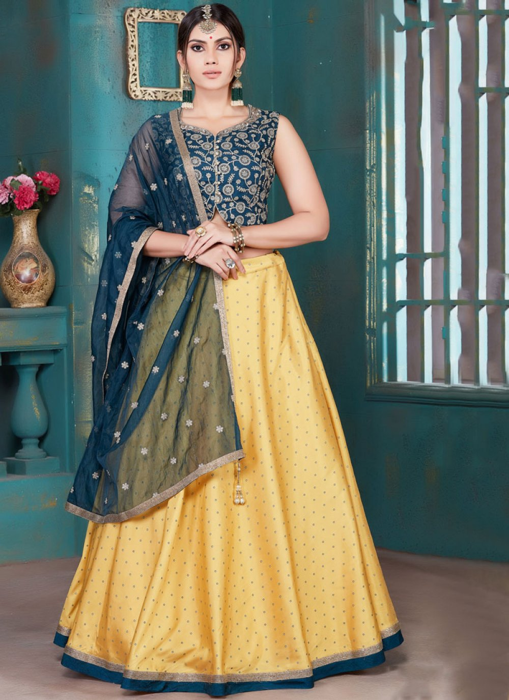 Yellow Color Designer Lehenga Choli