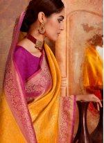 Yellow Color Designer Traditional Saree