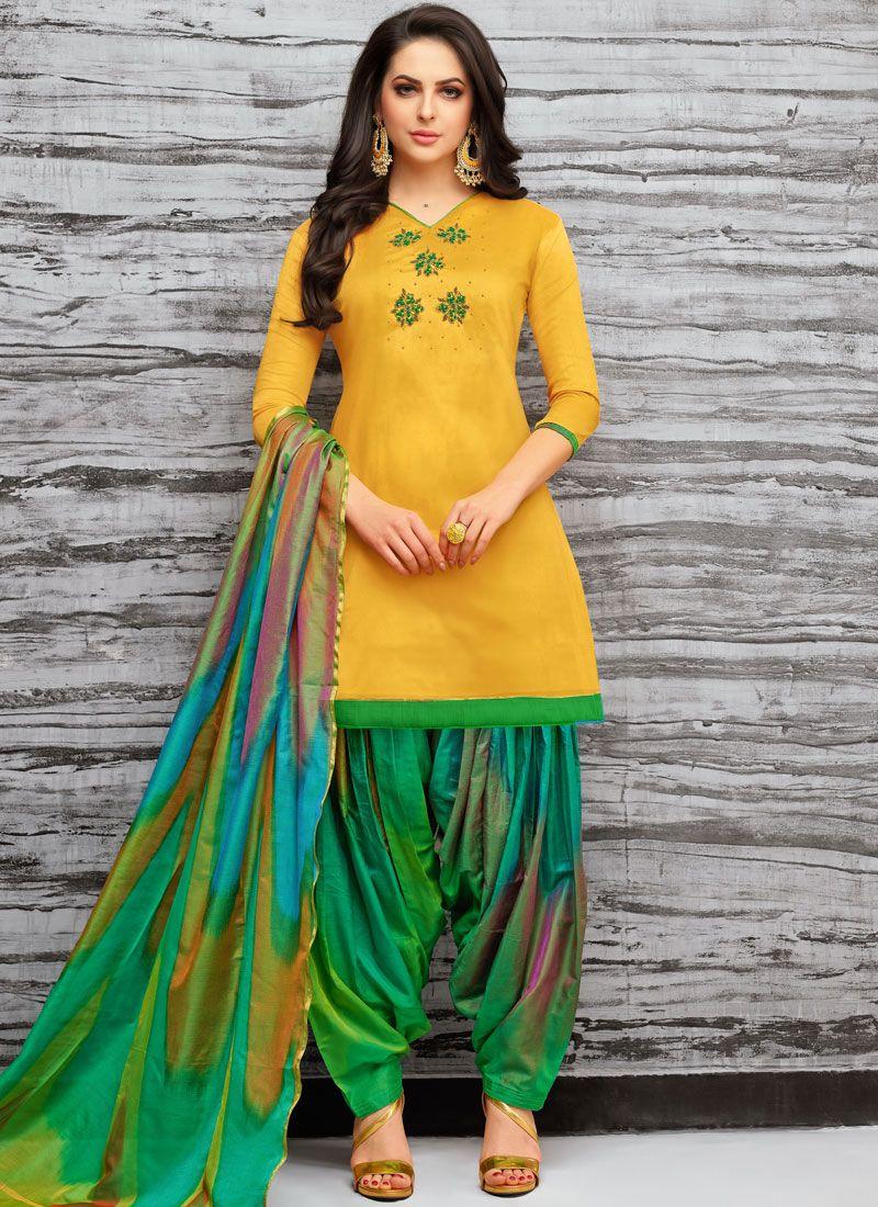 Yellow Designer Patiala Suit