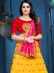 Yellow Embroidered Sangeet Designer Lehenga Choli
