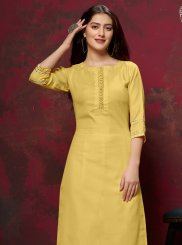 Yellow Fancy Festival Party Wear Kurti