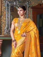 Yellow Festival Designer Traditional Saree
