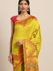 Yellow Festival Traditional Designer Saree
