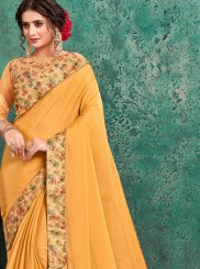 Yellow Festival Trendy Saree