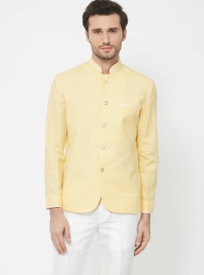 Yellow Linen Ceremonial Coats & Blazers