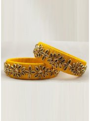 Yellow Mehndi Bangles