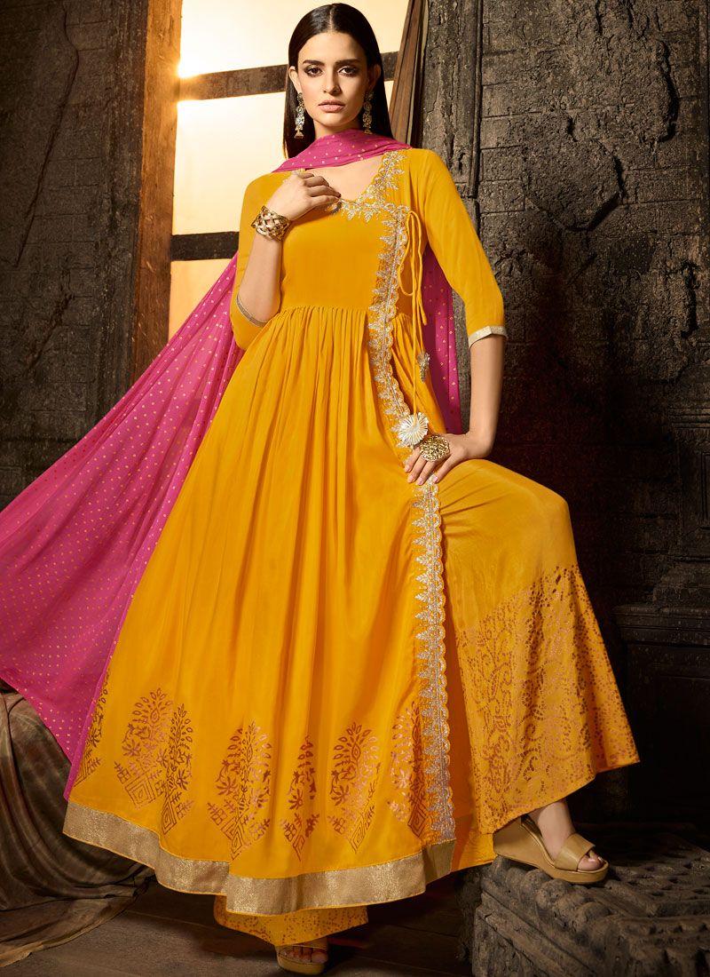 Yellow Sangeet Designer Salwar Kameez