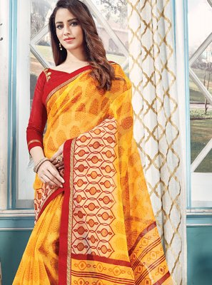 Yellow Sangeet Designer Traditional Saree