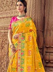 Yellow Silk Classic Designer Saree
