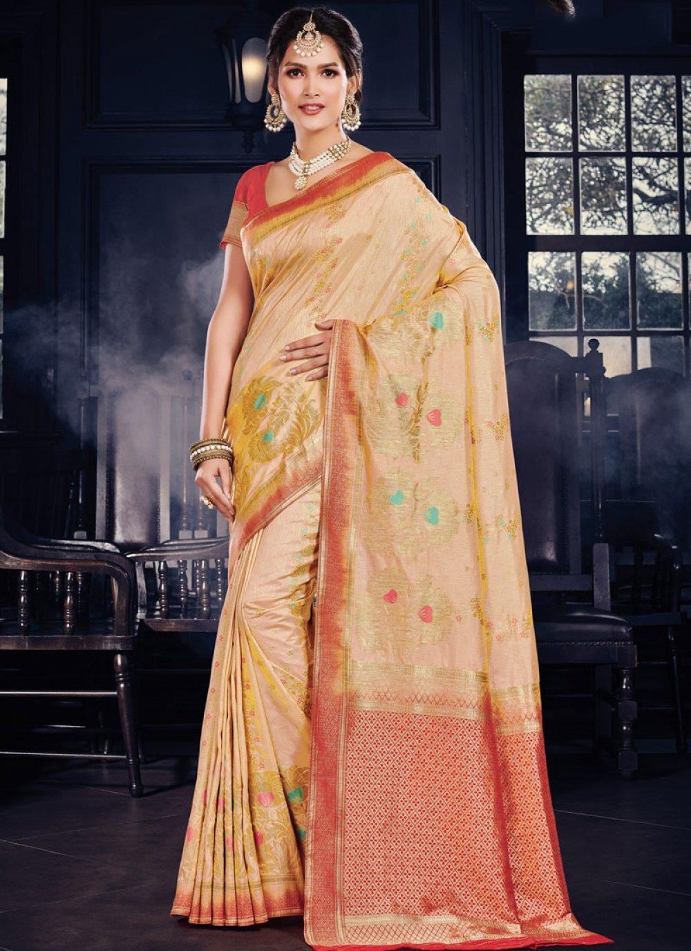 Yellow Traditional Designer Saree