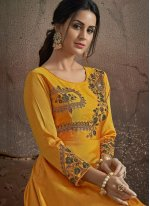 Yellow Trendy Gown