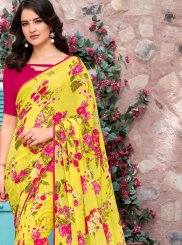 Yellow Trendy Saree