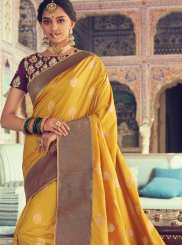 Yellow Weaving Designer Traditional Saree
