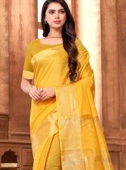 Yellow Weaving Festival Classic Saree
