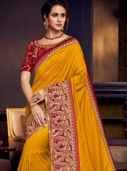 Yellow Wedding Designer Traditional Saree