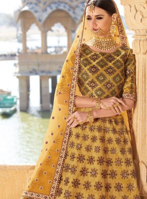 Yellow Wedding Trendy Designer Lehenga Choli