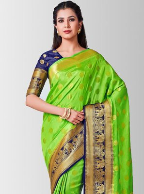 Green Zari Designer Traditional Saree