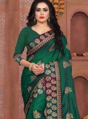 Zari Art Silk Designer Traditional Saree in Green