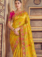 Zari Art Silk Designer Traditional Saree in Mustard