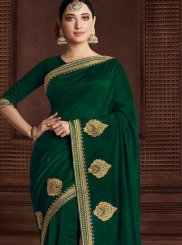 Zari Art Silk Green Classic Saree