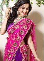 Zari Art Silk Purple Designer Lehenga Choli