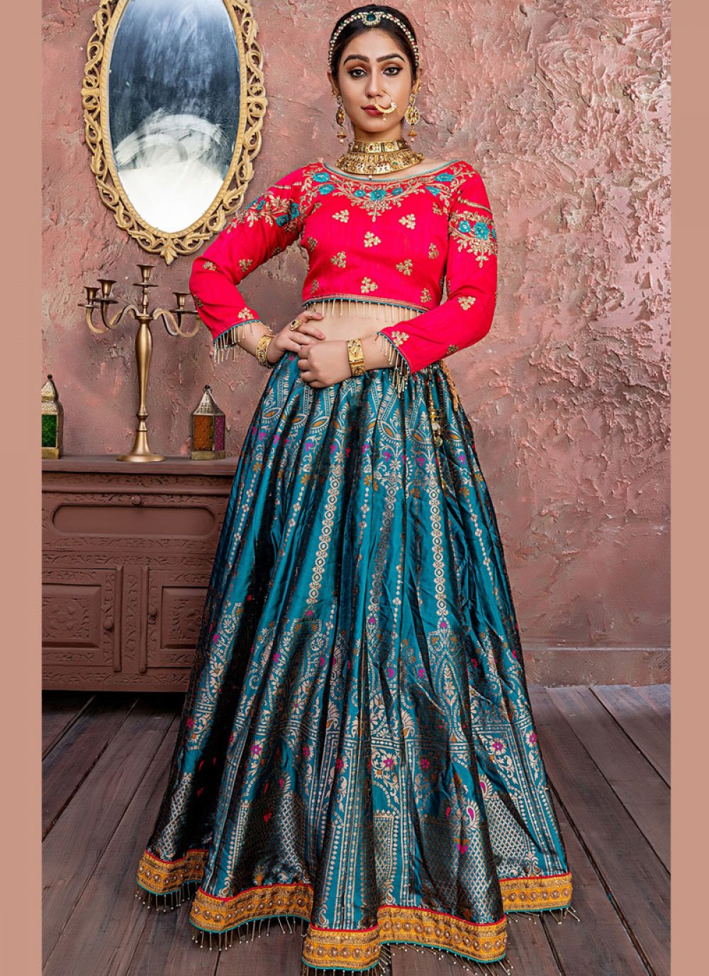 Zari Banarasi Silk Designer Lehenga Choli