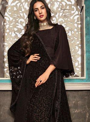 Zari Black Designer Salwar Suit