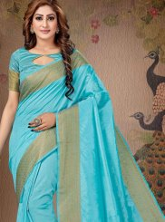 Zari Blue Trendy Saree