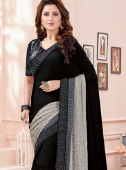 Zari Fancy Fabric Black Saree