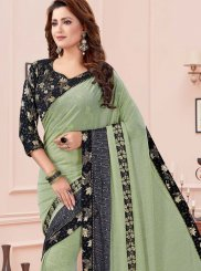 Zari Fancy Fabric Traditional Saree in Green