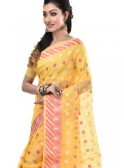 Zari Gold Cotton Designer Saree