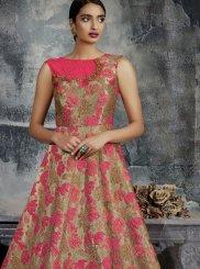 Zari Jacquard Designer Gown