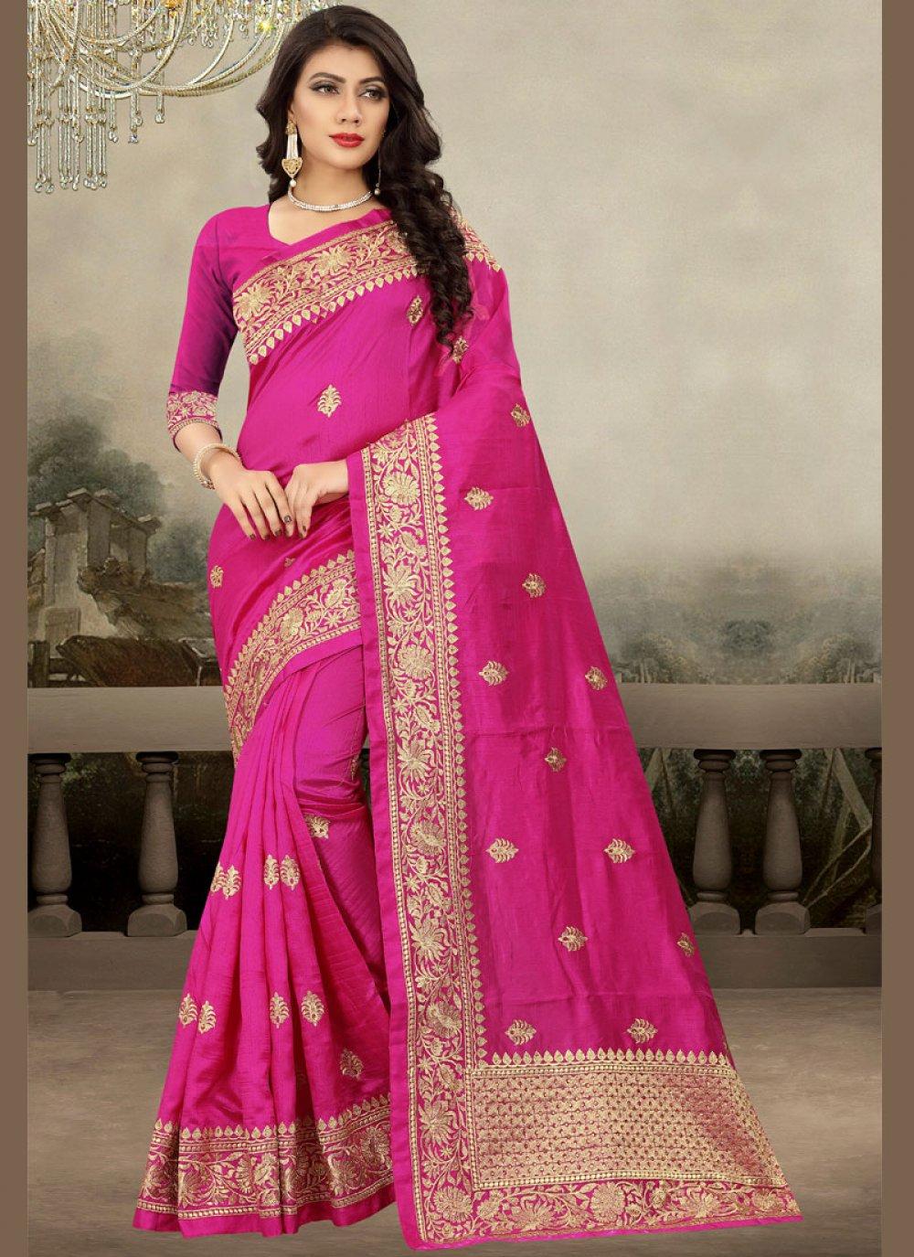 Zari Magenta Designer Traditional Saree