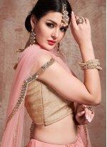 Zari Net Pink Trendy Lehenga Choli