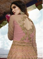 Zari Pink Designer Salwar Kameez