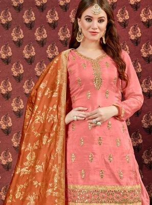 Zari Viscose Designer Patiala Suit