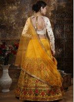 Zari Yellow Designer Lehenga Choli