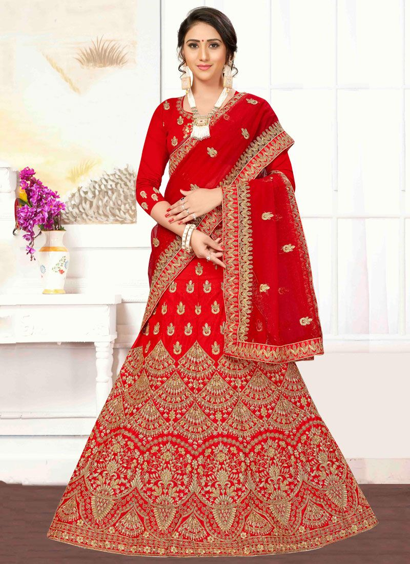 A Line Lehenga Choli For Wedding