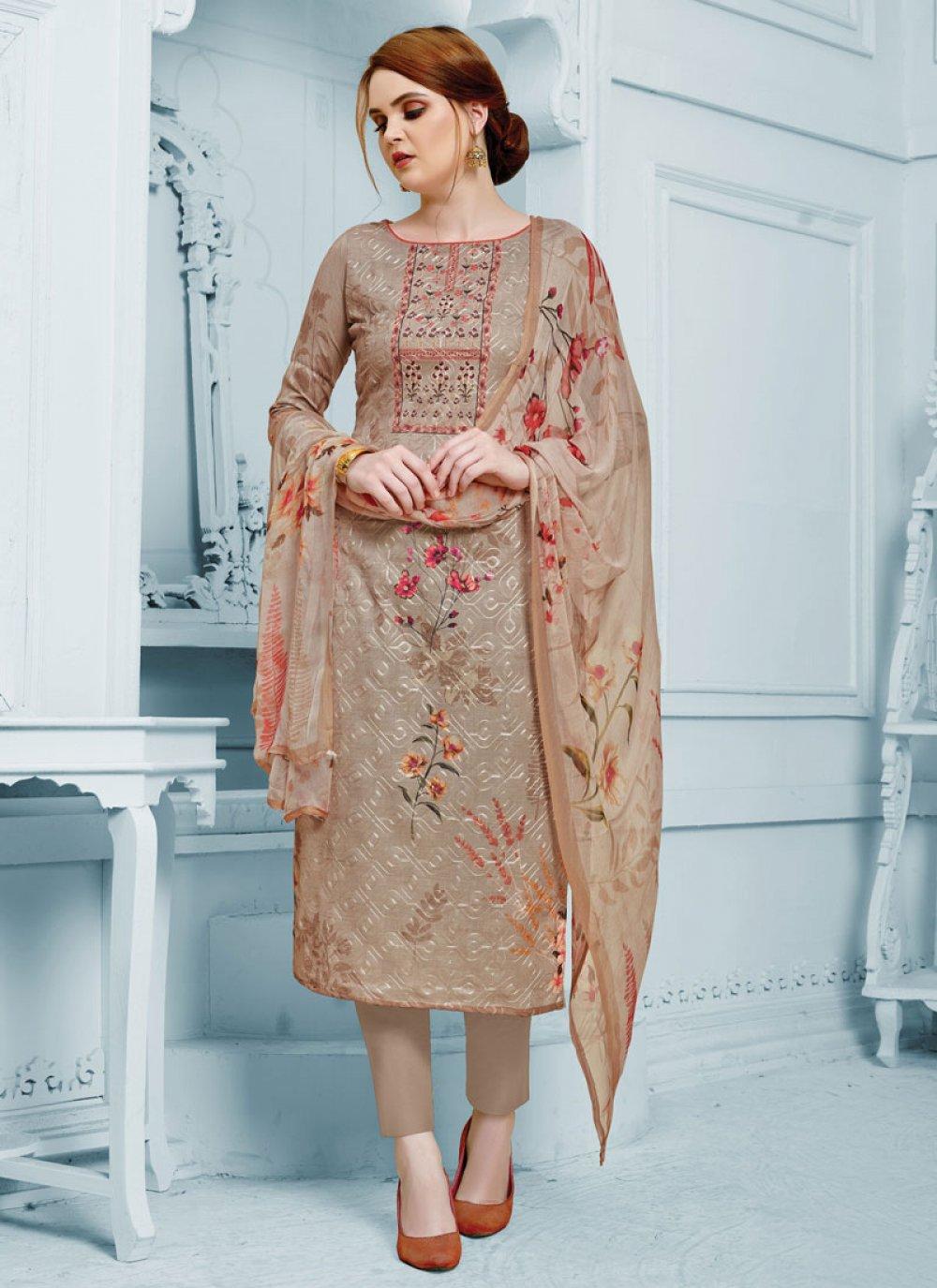 Aariwork Silk Salwar Suit