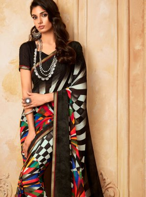 Abstract Print Casual Printed Saree