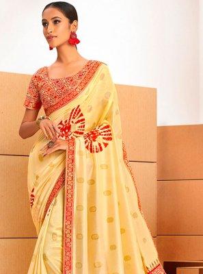 Abstract Print Chanderi Printed Saree