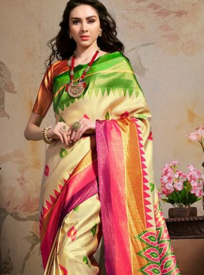 Abstract Print Party Printed Saree
