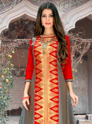 Abstract Print Polly Cotton Designer Kurti